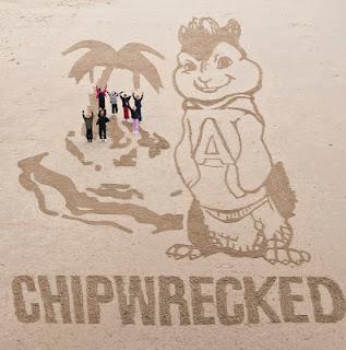 Chipmunks, Chipwrecked, Alvin, Blackpool, sand art