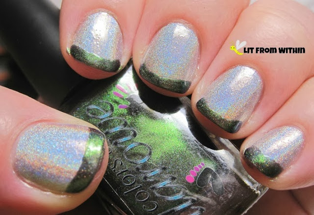 I used Colors by Llarowe Holly to make the French tip