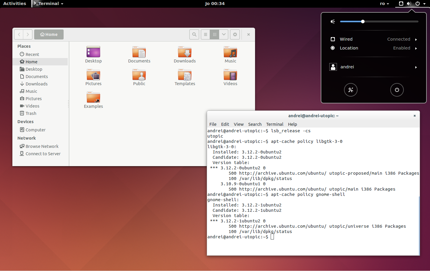 GNOME Shell 3.12 Ubuntu 14.10