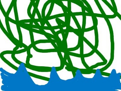 A bunch of squiggly lines representing a frustrating swamp.