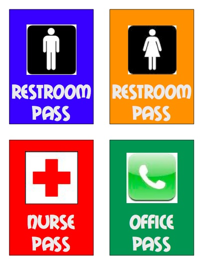 Bathroom pass template high school images amp pictures becuo