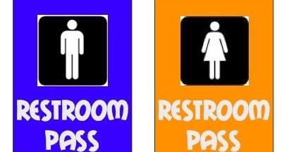 Piles Of Pencils Restroom Passes Necessary