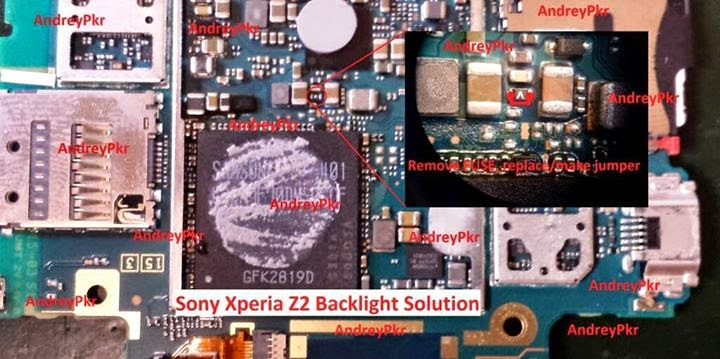 Sony Xperia Z2 Display Light Ic Solution Jumper
