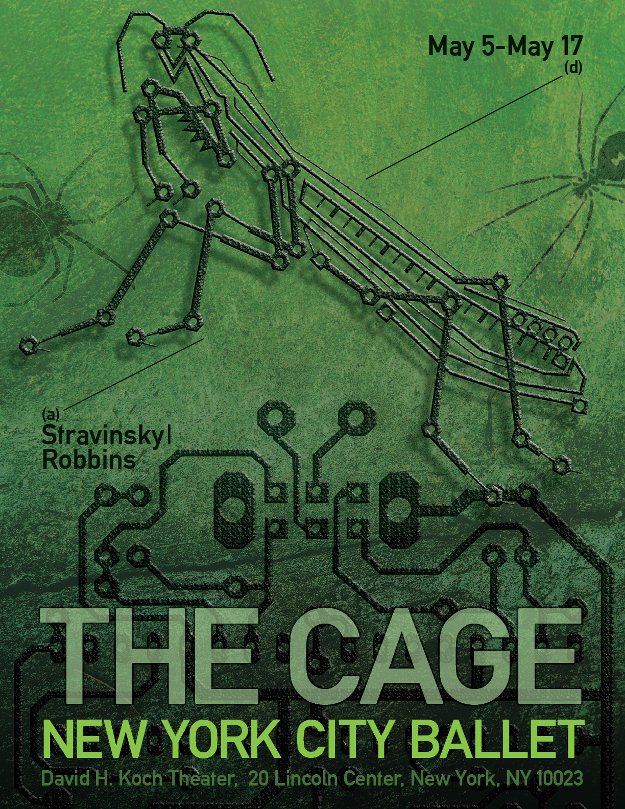 New York City Ballet poster The Cage