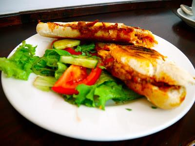 Chicken, chorizo chimichurri panini at Ultracomida