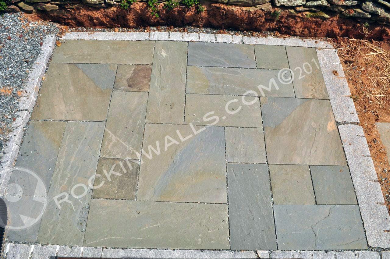 Dry Laid Bluestone Patio Pa Blue Stone Squares And