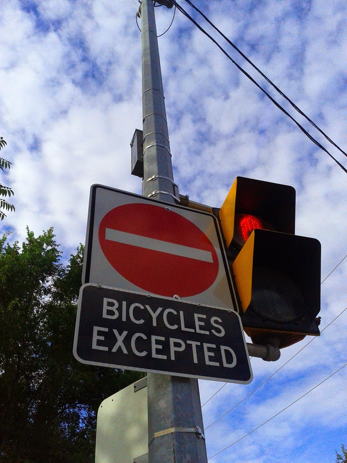 Stock photo: No Entry Bicycles Exccepted sign