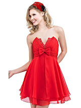 Short Red Homecoming Dress