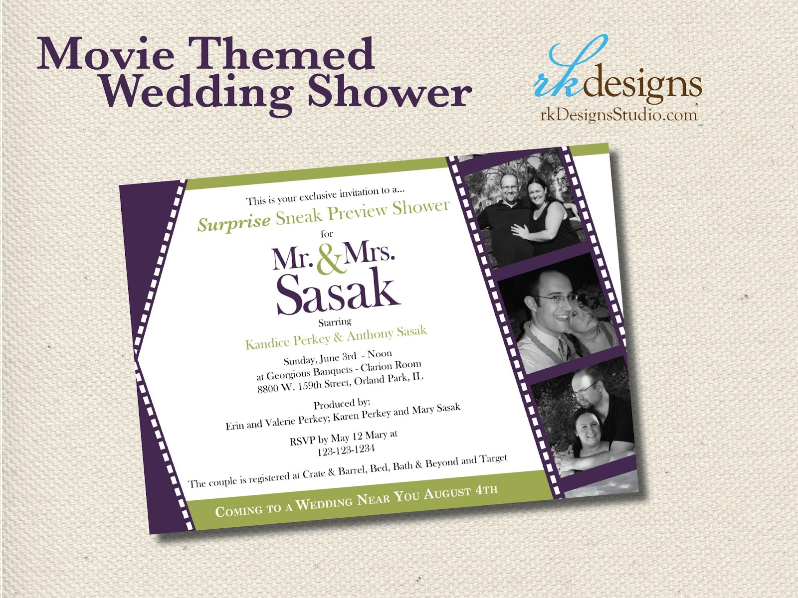 rkDesigns: Coming Attractions Bridal Shower