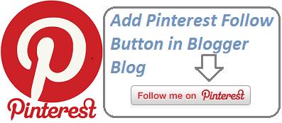 Pinterest Button Blogger