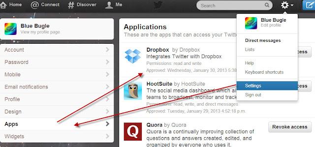 App list details on twitter