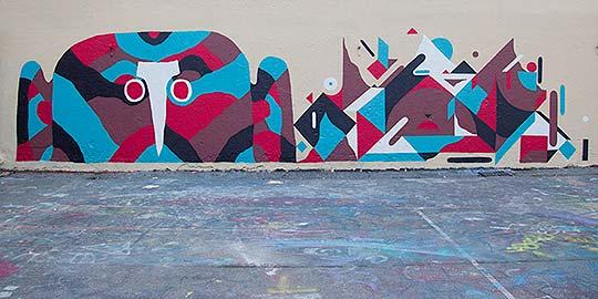Arte urbano geométrico y abstracto de Neli0