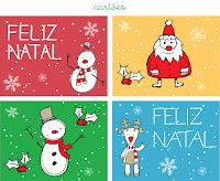 Cartão de Natal 2013: Modelos Grátis para imprimir - Bonito e simples