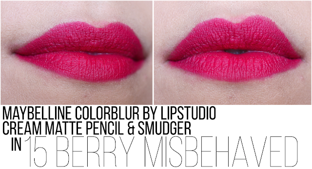 Maybelline ColorBlur by Lipstudio Cream Matte Pencil & Smudger en Berry Misbehaved