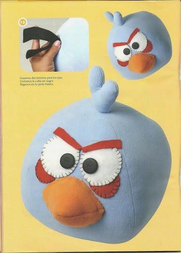 Angry Birds de feltro passo a passo com moldes
