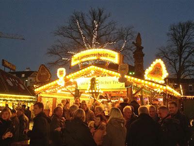 Weihnachtsmarkt in Leer, Ostfriesland, Germany.