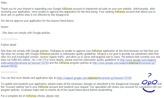 OpO ~ Resolved sites does not comply with google police