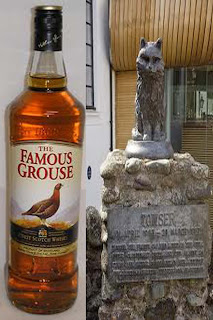 whisky Famous Grouse y el gato Towser