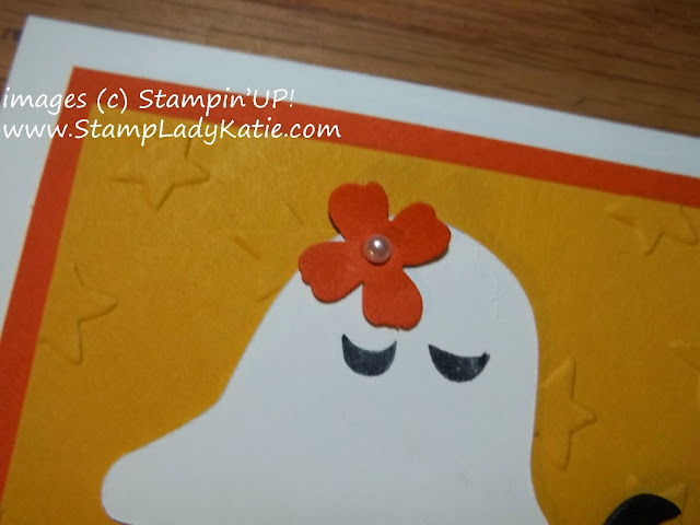 Halloween Card  ghosts die cut with Stampin'Up!'s Fun Fall Framelits