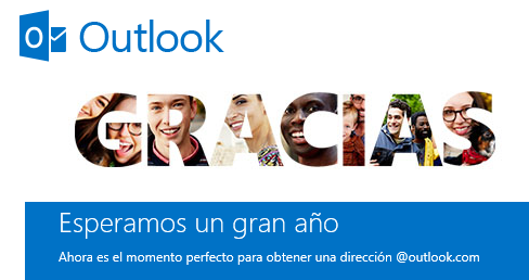Outlook agradece por un gran primer Año