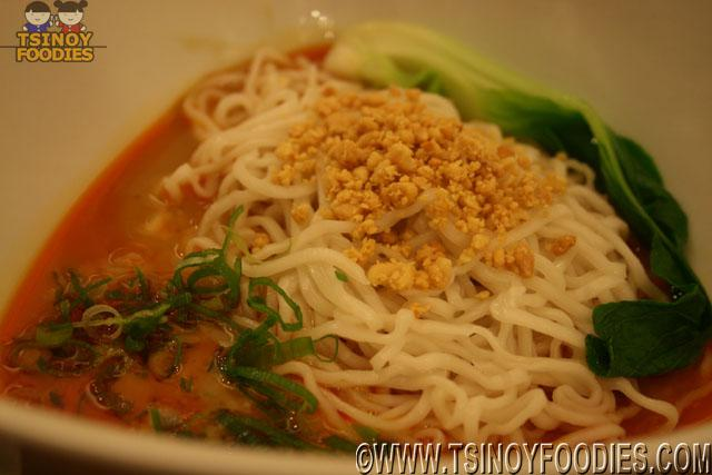 noodles with spicy sesame and peanut sauce