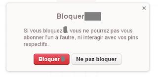 bloquer, Pinterest,