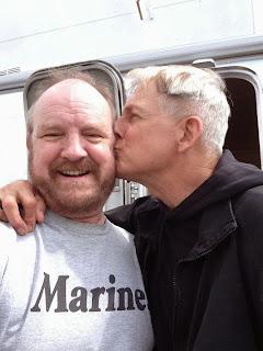 NCIS - Season 12 - BTS photo of Mark Harmon and Jim Beaver - September 9, 2014