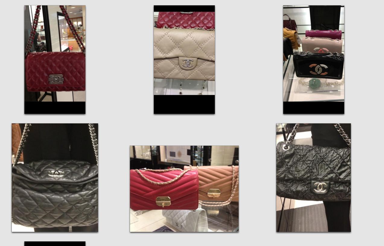 Chanel handbags in stores