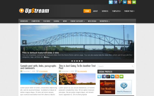 News Blog Stream Free Wordpress Theme Template