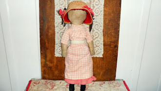 Early PA. Rag Doll, Lancaster County, 19 inches, all original, 1890 year