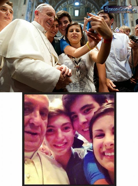 funny selfie pope picture