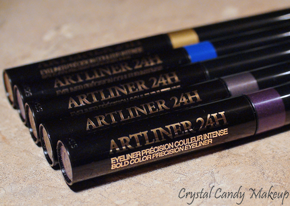 Eyeliner précision couleur intense Artliner 24h de Lancôme - Sapphire - Amethyst - Chrome - Gold - Black Diamond - Review