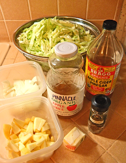 Cabbage, Apple, Onion, Butter, Cider, Caraway Seeds and Vinegar