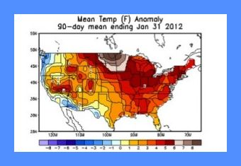 November 2011-January 2012 Mean Temperature Anomaly