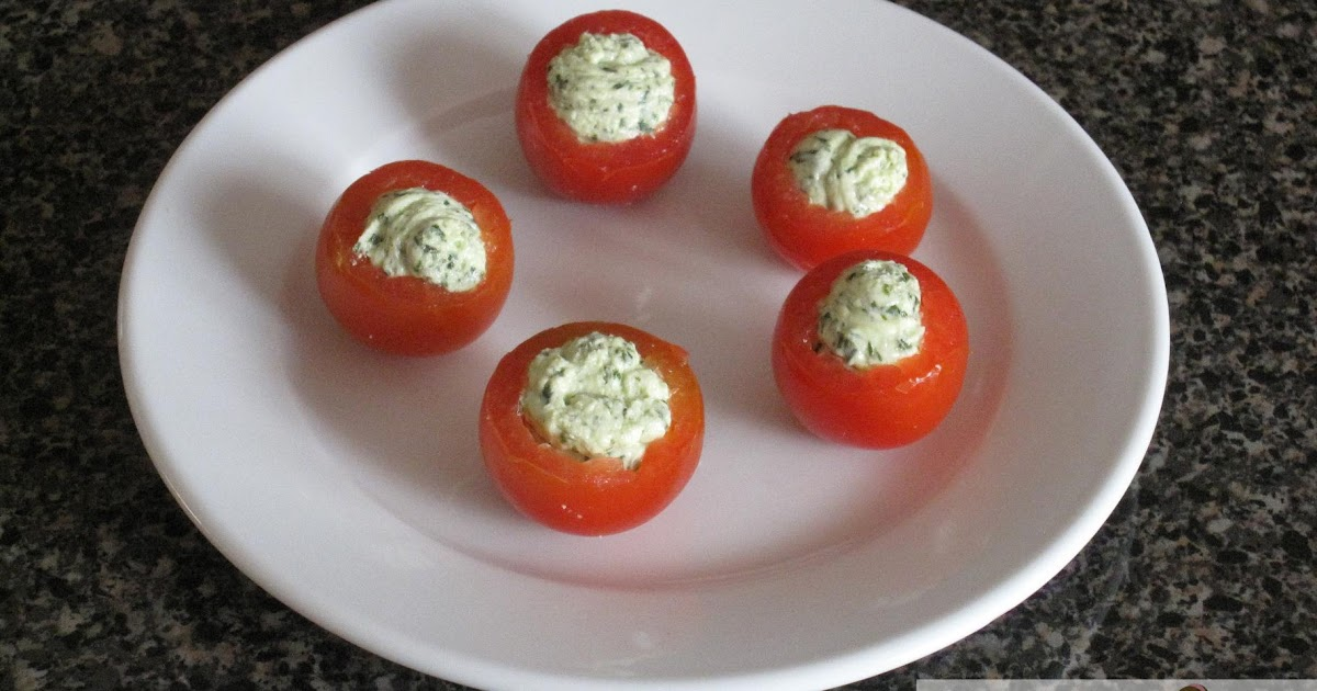 Eating Deliciously: Cherry Tomatoes Filled with Pesto ...