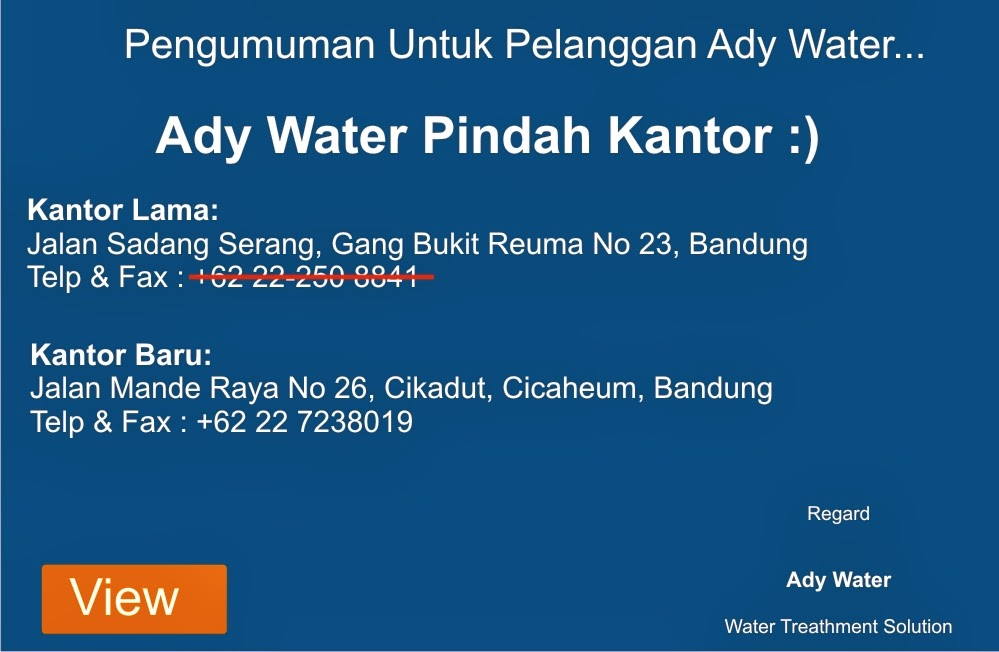 Ady Water, Pasir Silika, Karbon Aktif, Resin Kation Anion