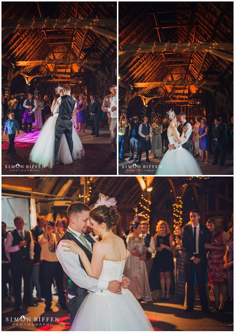 Wedding first dance at Blackthorpe Barn