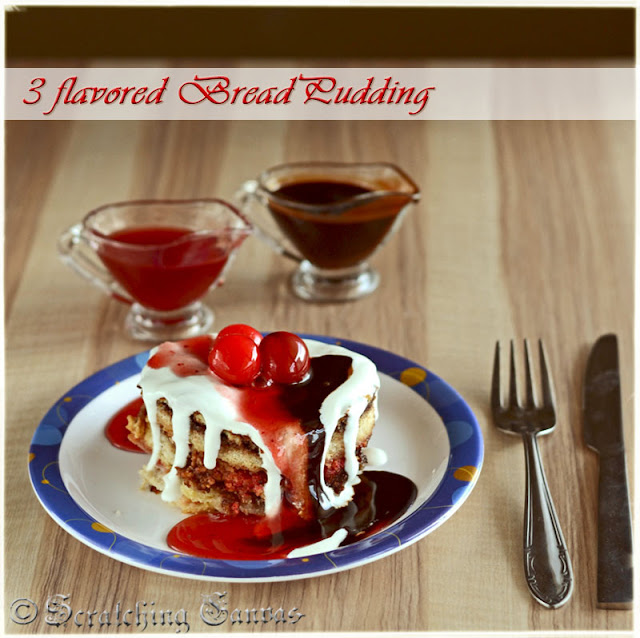 Strawberry Cottage Cheese Nutella Bread Pudding