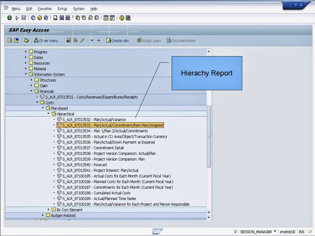 sap learning examination sap project system sap project system hierarchy reports