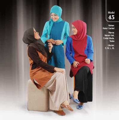 Qirani Collection Merah hati Coklat muda Tosca