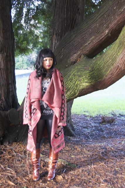 Rachel by Rachel Roy Aztec Sweater Coat