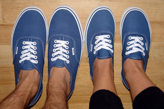 Vans Authentic Blue On Feet