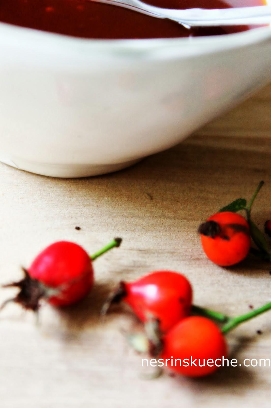 Nesrin's Küche: Kuşburnu Marmeladı / Hagebutten Marmelade