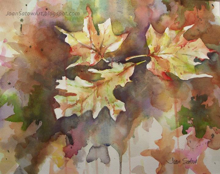 Joan Satow: Fall Leaves / Tree