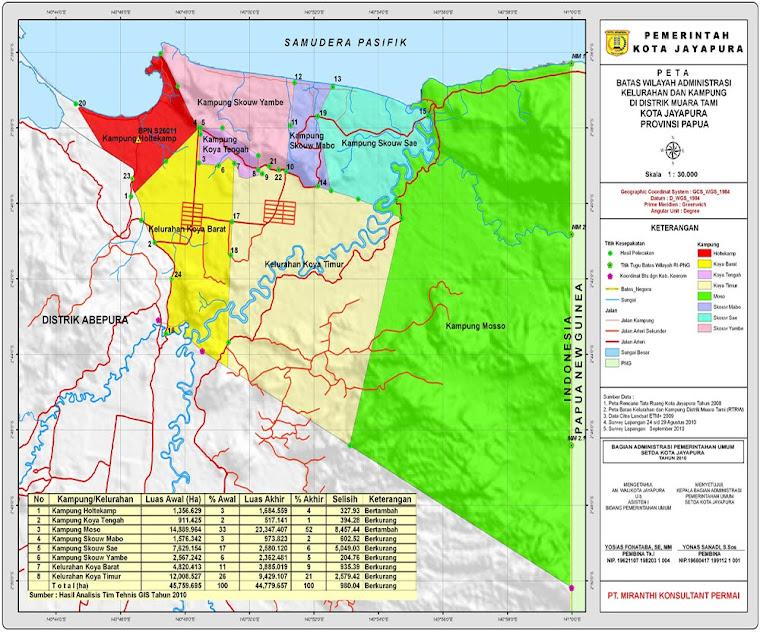 Peta Distrik Muara Tami, Kota Jayapura, Provinsi Papua