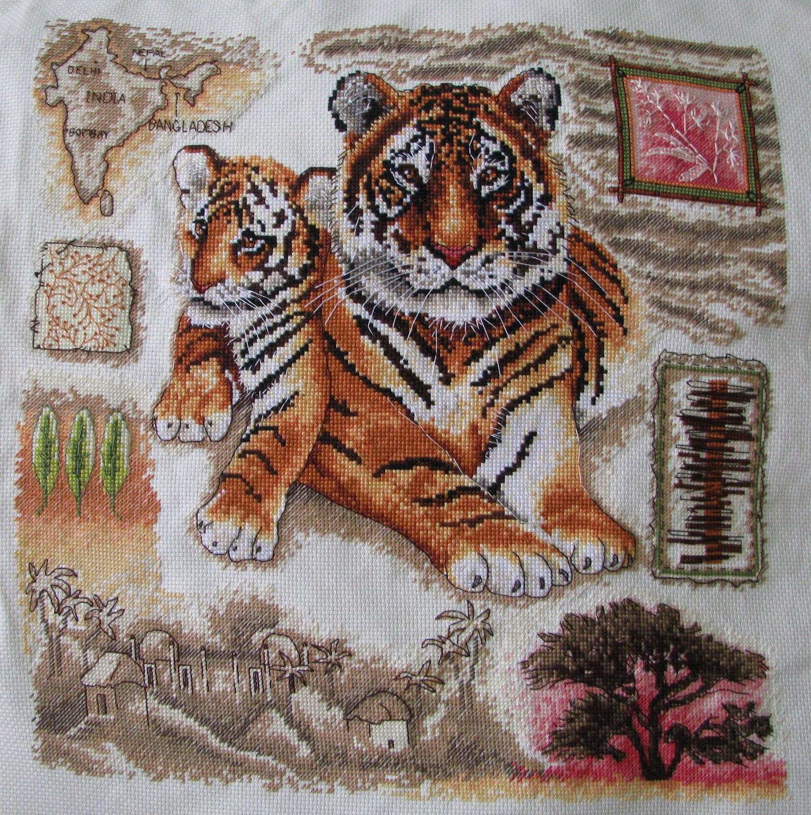 Значение тигра в вышивке 297