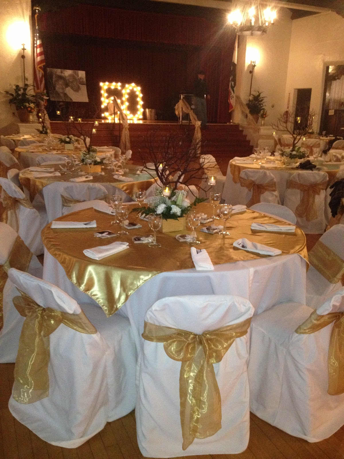 Golden Wedding Party Decorations