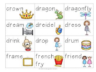 br, cr, dr, fr, gr, pr, tr, 'r' Word Blend Activty - Kindergarten ...