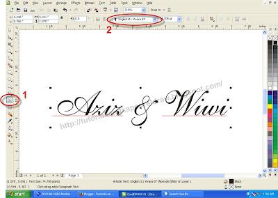 Cara Membuat Outline pada Teks atau Objek, tutoriallengkapcoreldraw.blogspot.com