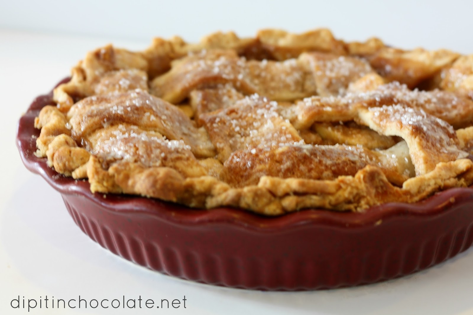 American Apple Pie ~ Dip it in Chocolate